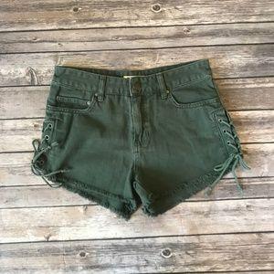 Billabong Tide Out Side Lace-Up Denim Shorts